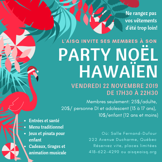 Souper de Noël hawaïen de l'AISQ