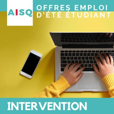 Offre d'emploi d'été – Intervention