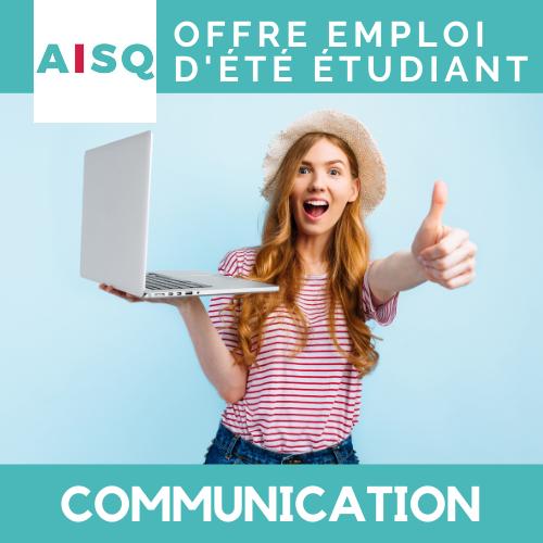 Offre d'emploi d'été – Communication